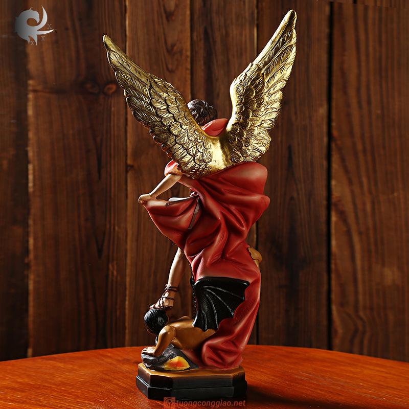Tượng Thiên Thần Micae Cao 22x12x6cm (6)