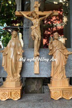 Bộ Tượng Thánh Phêrô, Đức Mẹ Ban ơn, Chúa Chịu Nạn